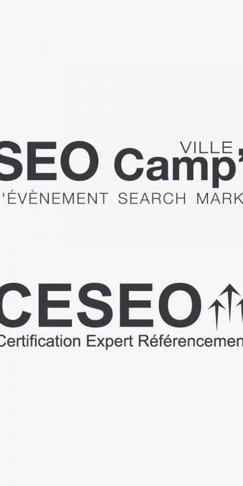 Conception de logos pour l'association SEO Camp